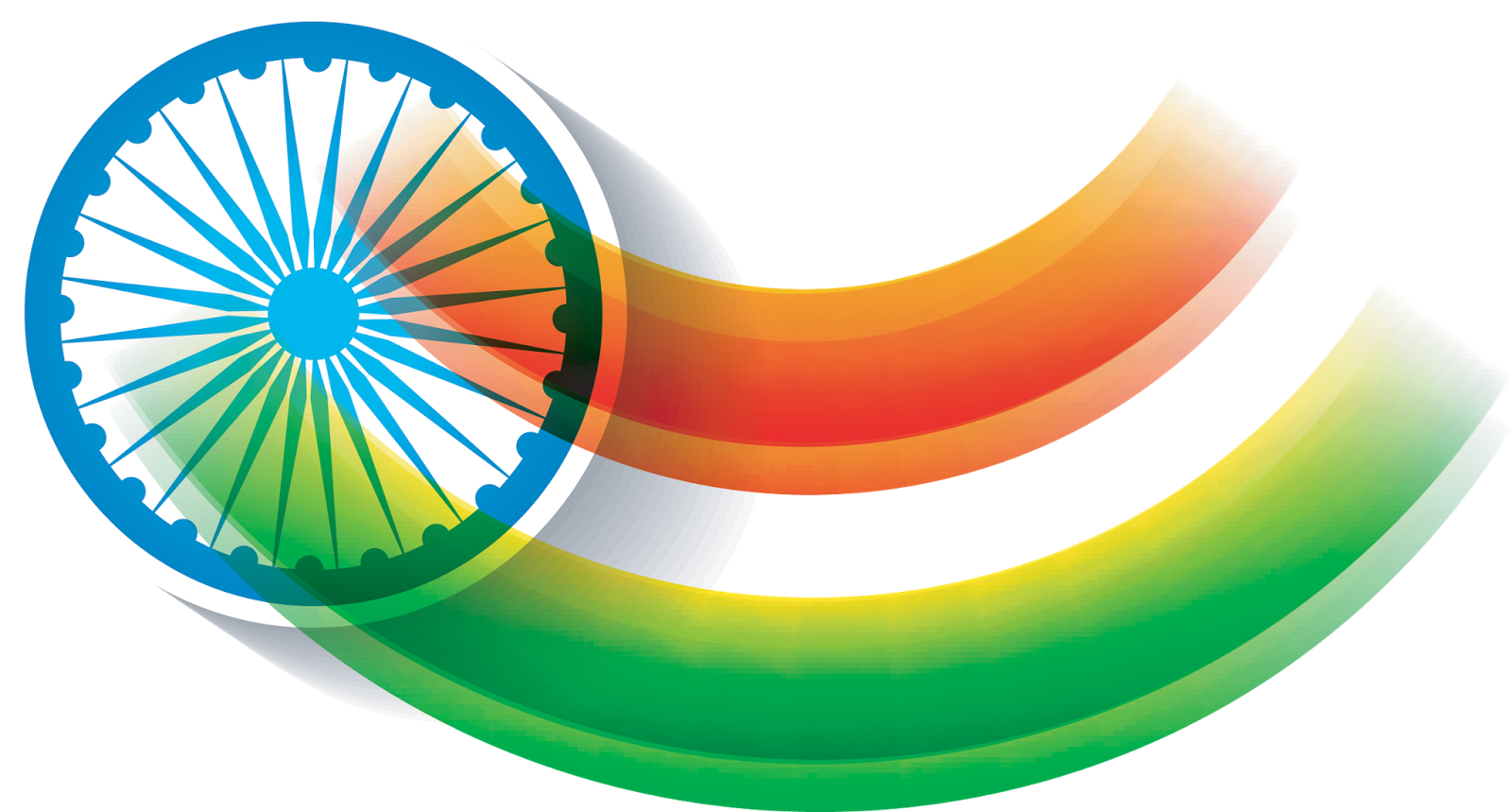 indian flag waving india flag transparent png vector images #38510