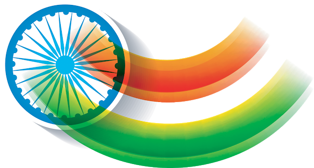 indian flag transparent waving vector images #38891