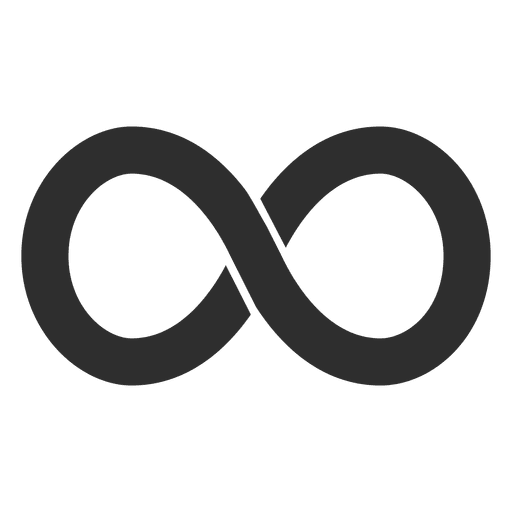 infinity symbol, simple infinity logo infinite transparent png svg vector #19560