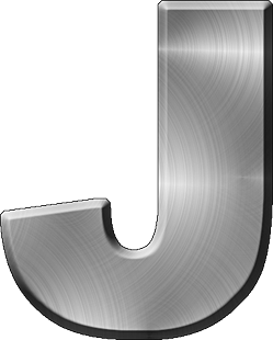 letter j presentation alphabets brushed metal letter #37795