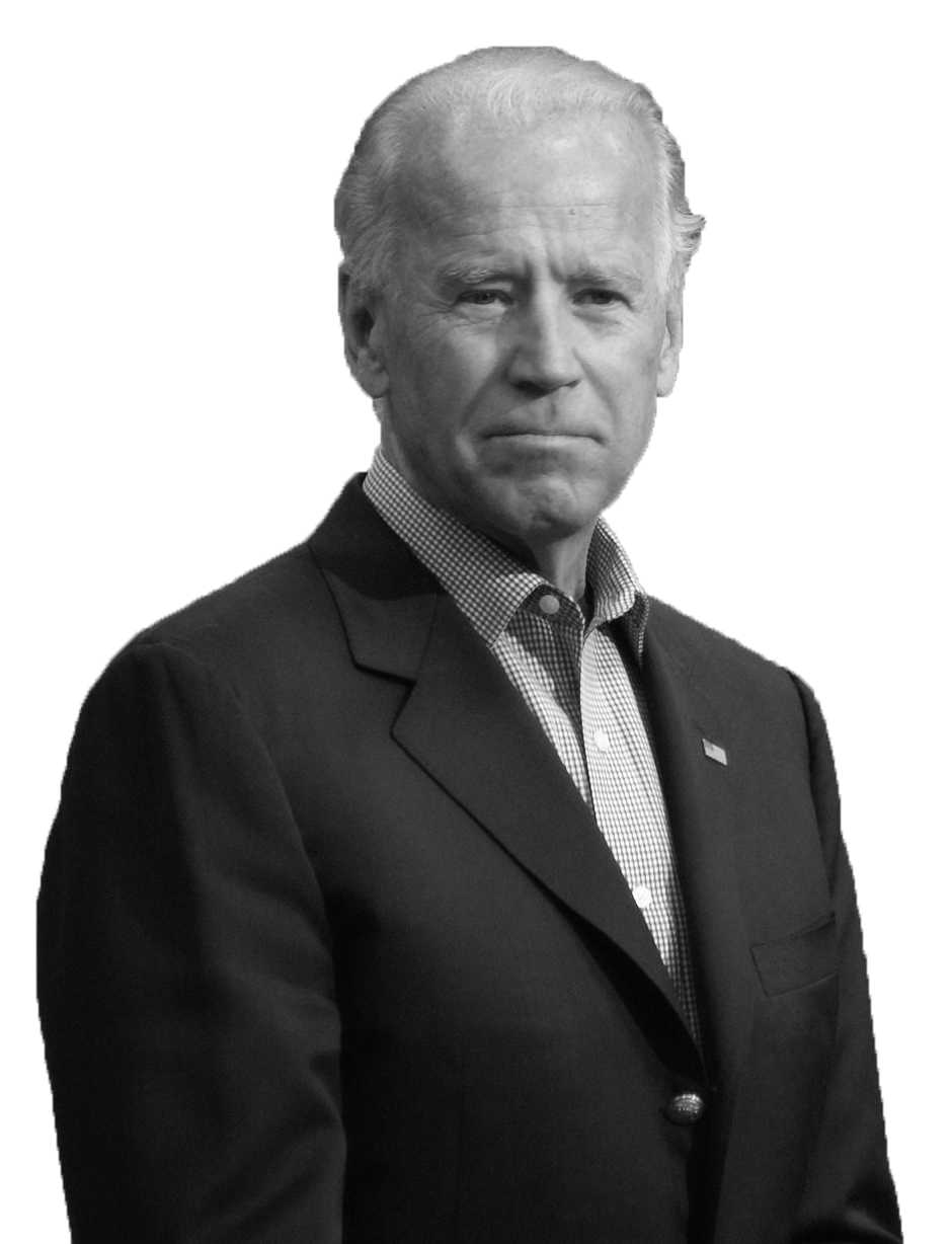 joe biden black and white png image #40980