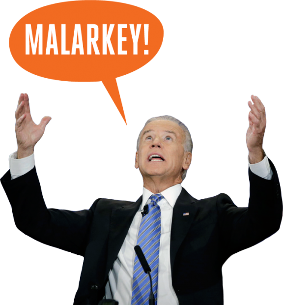 joe biden malarkey transparent png #40975