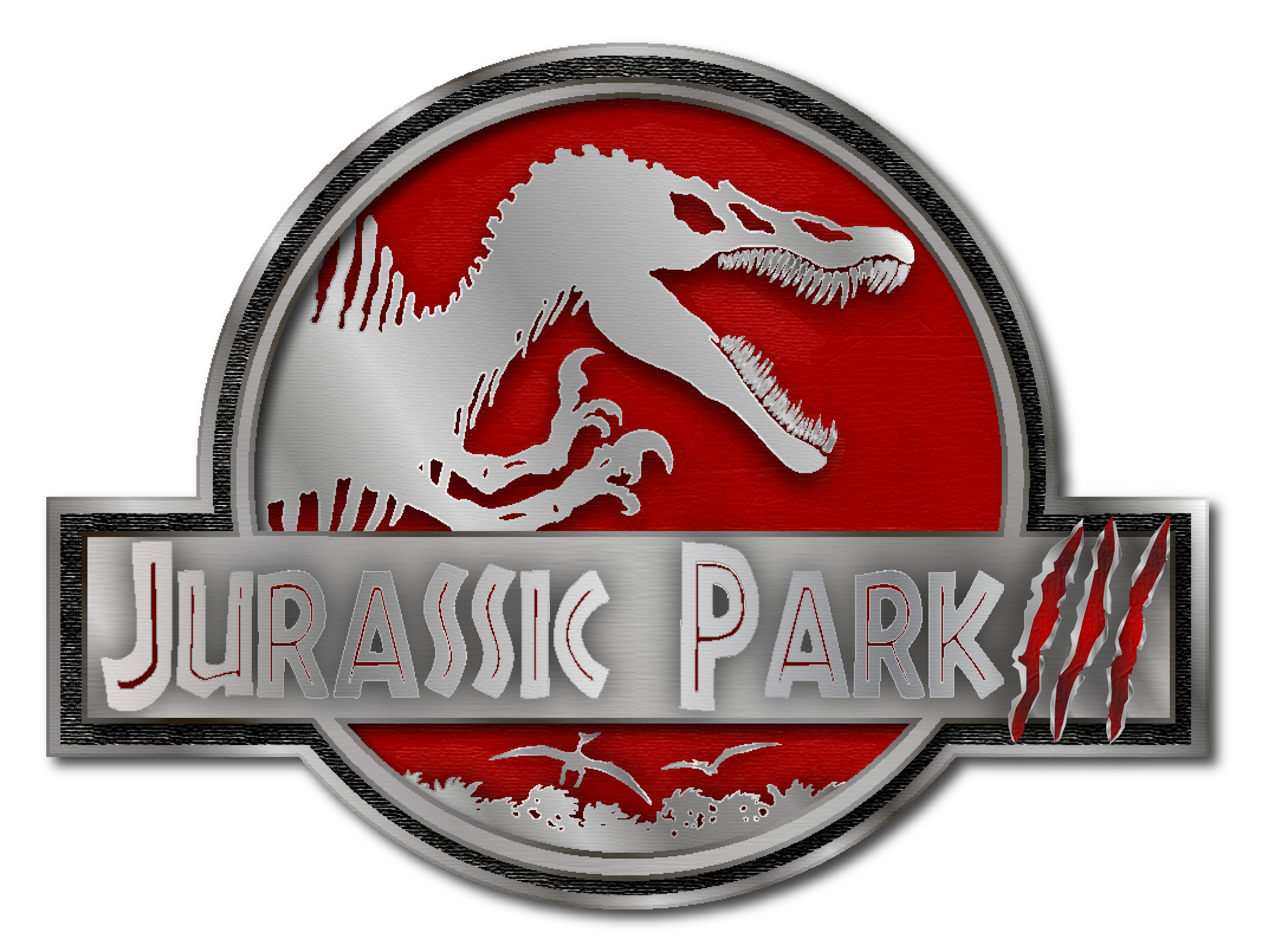 jurassic park movies 3 logo png