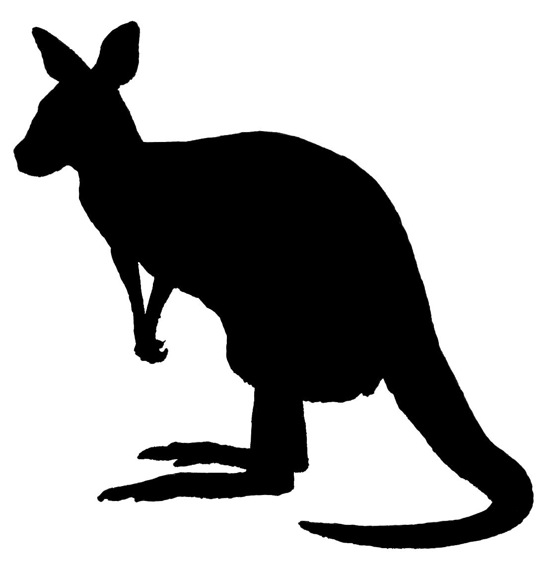 kangaroo silhouette get drawin for personal #39226