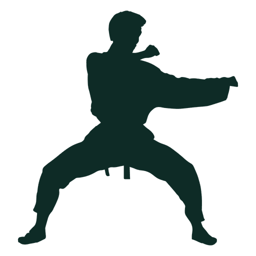 karate stance training transparent png svg vector #34542
