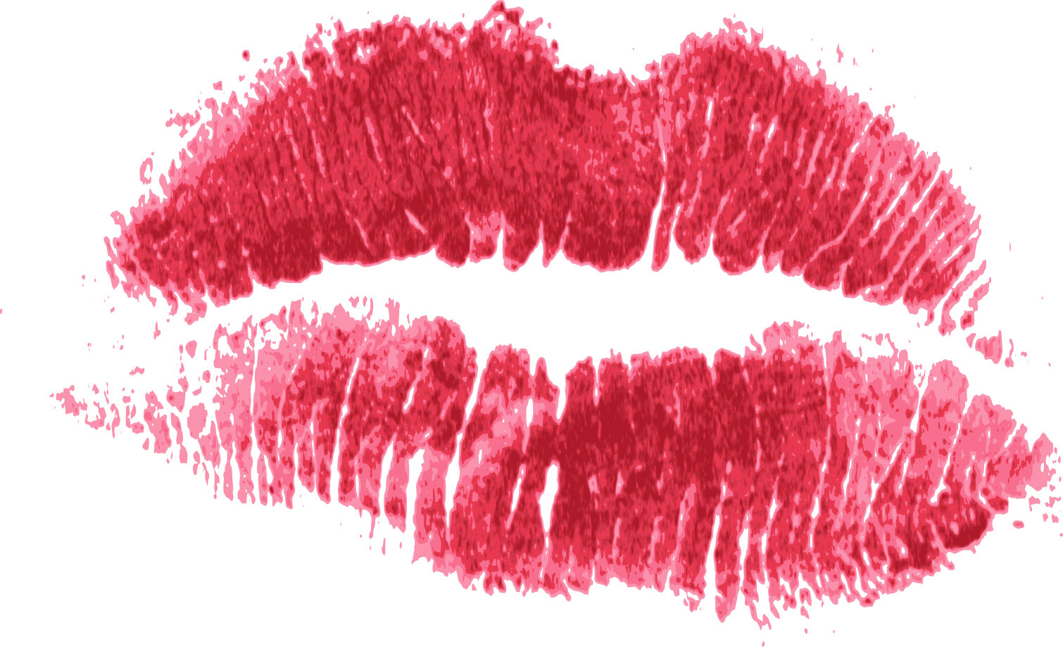 red print kiss lips png transparent #12057