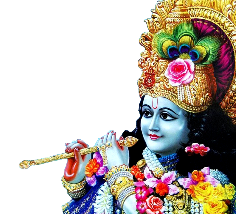 transparent krishna png with flute #33009