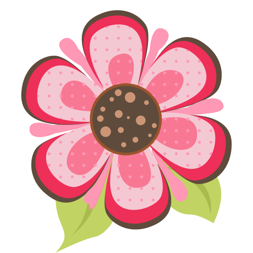 ladybug pink flower clipart panda clipart images #29739