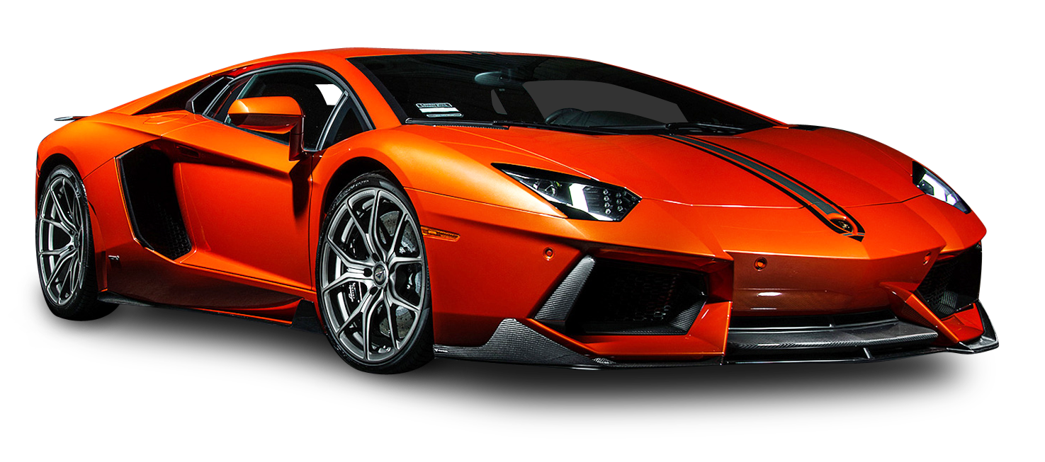 orange lamborghini aventador coupe car png image pngpix #25574