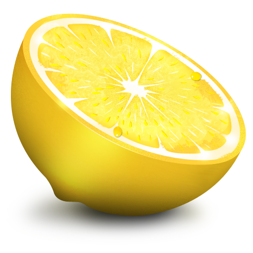 lemon icon paradise fruit icon set softiconsm #13401