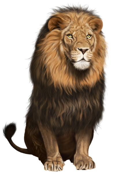 seating lion png picture #11305