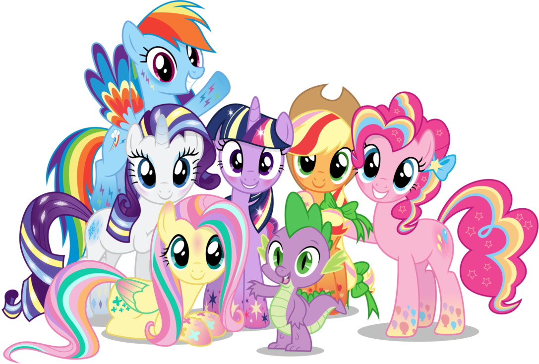 little pony clipart group #28034