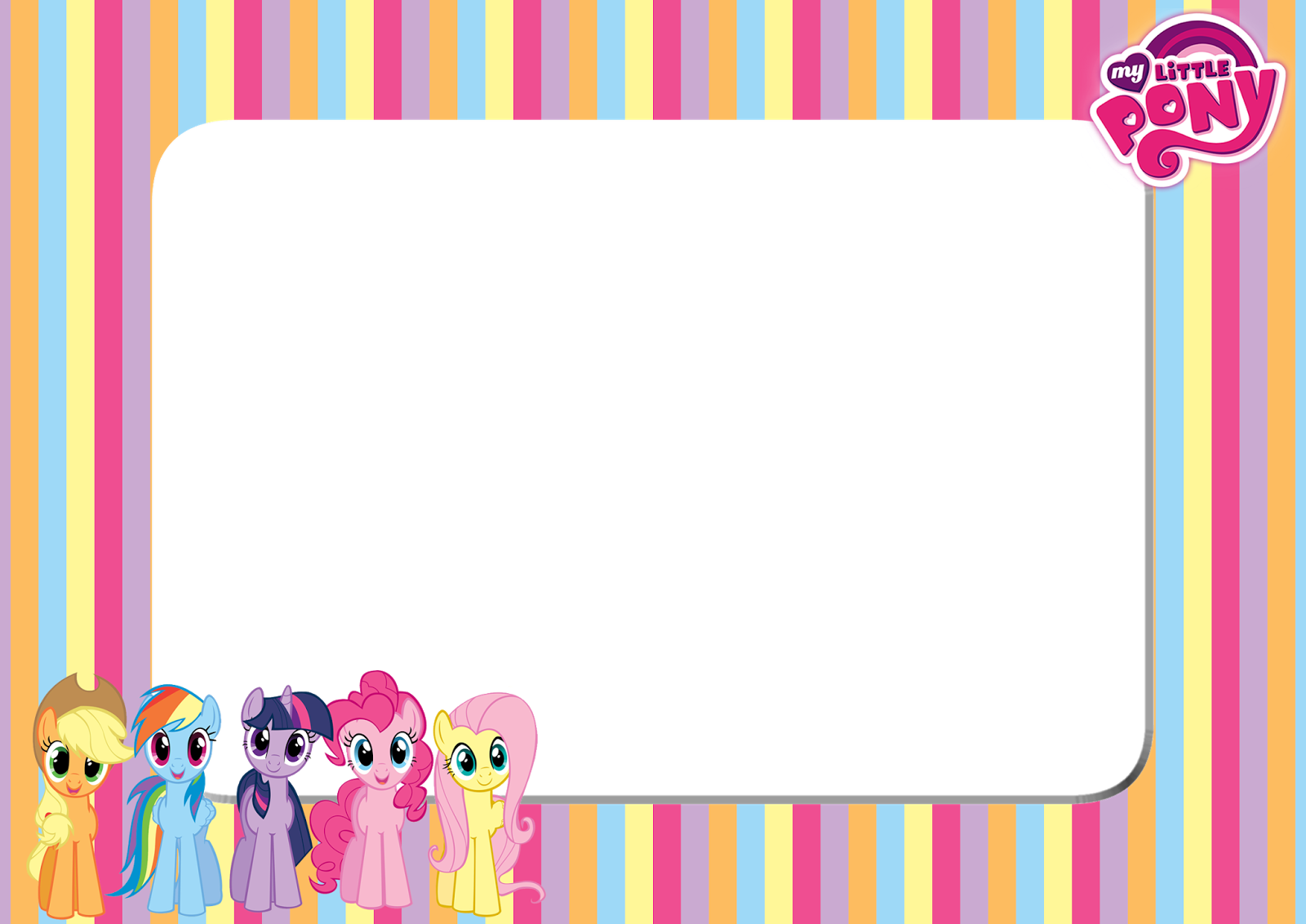 little pony stripe png frame printable png frames #28054