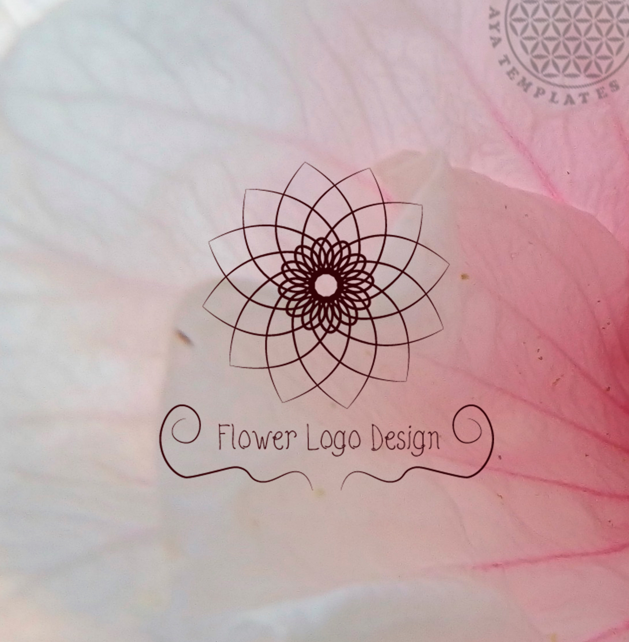 flower logo design aya templates #32154