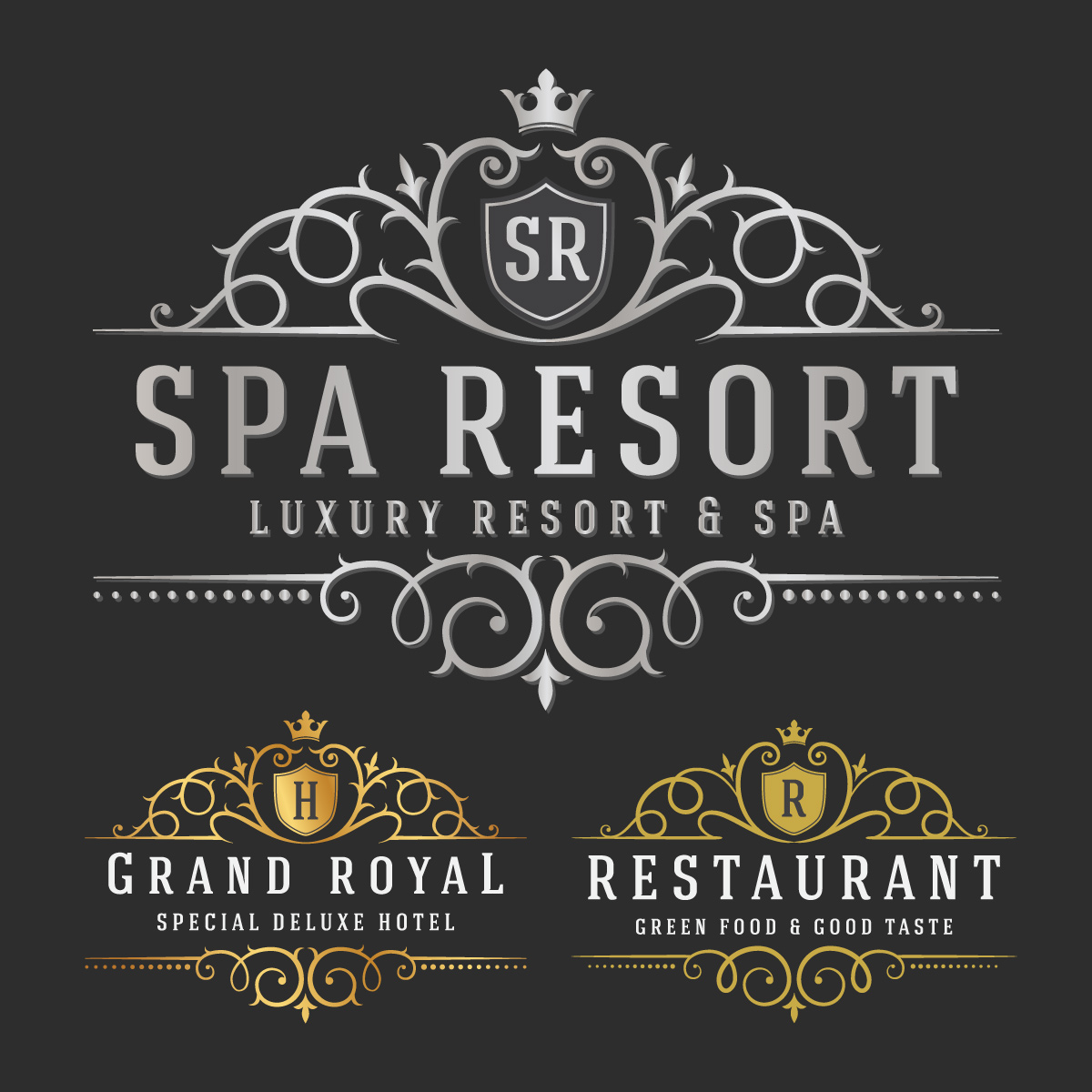 logo design, luxurious royal logo vector sizable design template #32147