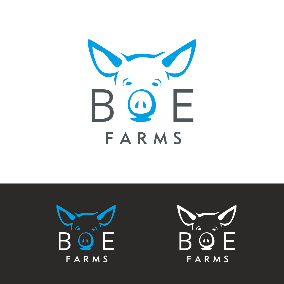 modern professional farm logo design for boe farms #32161