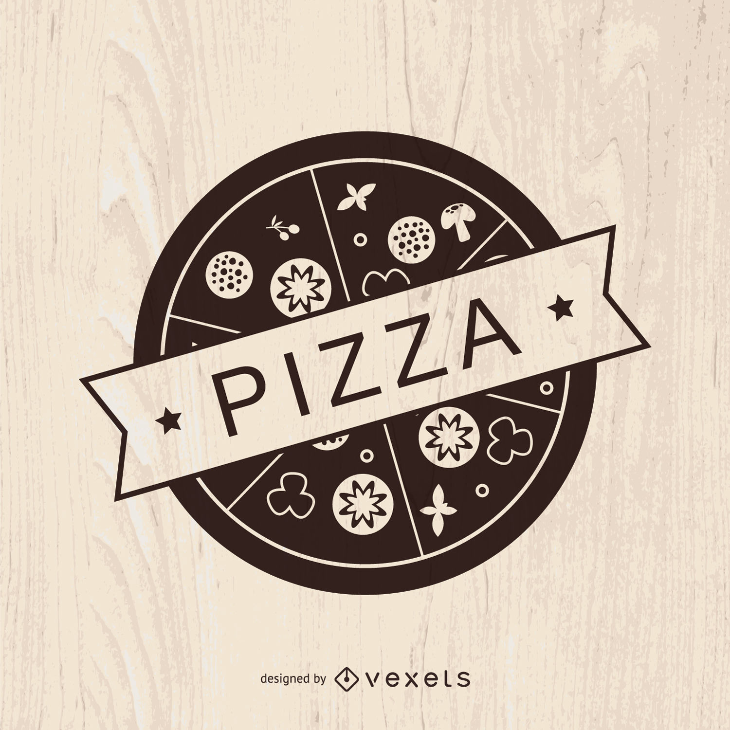 vintage pizza logo design vector download #32144