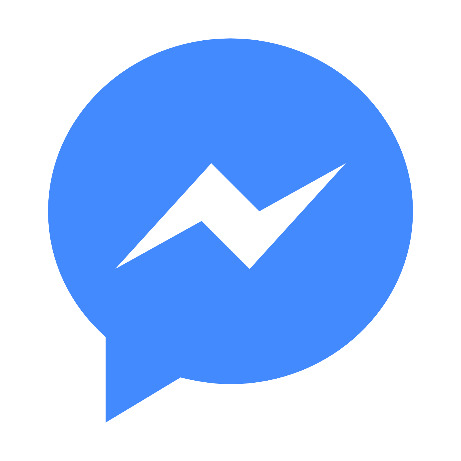 Facebook Messenger Logo PNG Transparent, Blue, Chat #32252