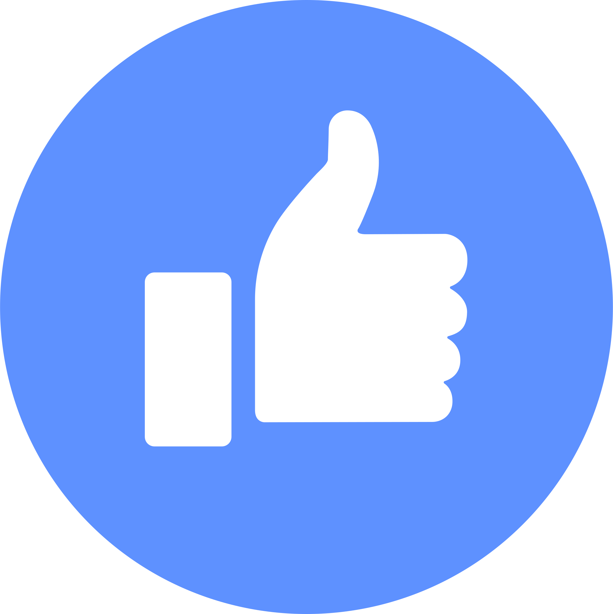 Blue, Round Button With Facebook Like #32253