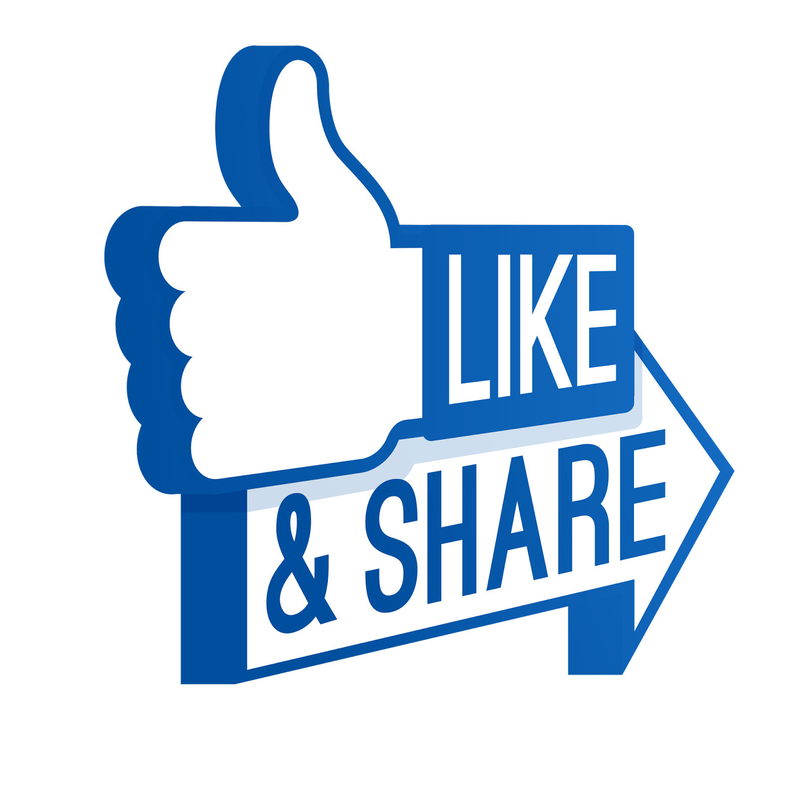 Facebook Like And Share Button PNG #32259