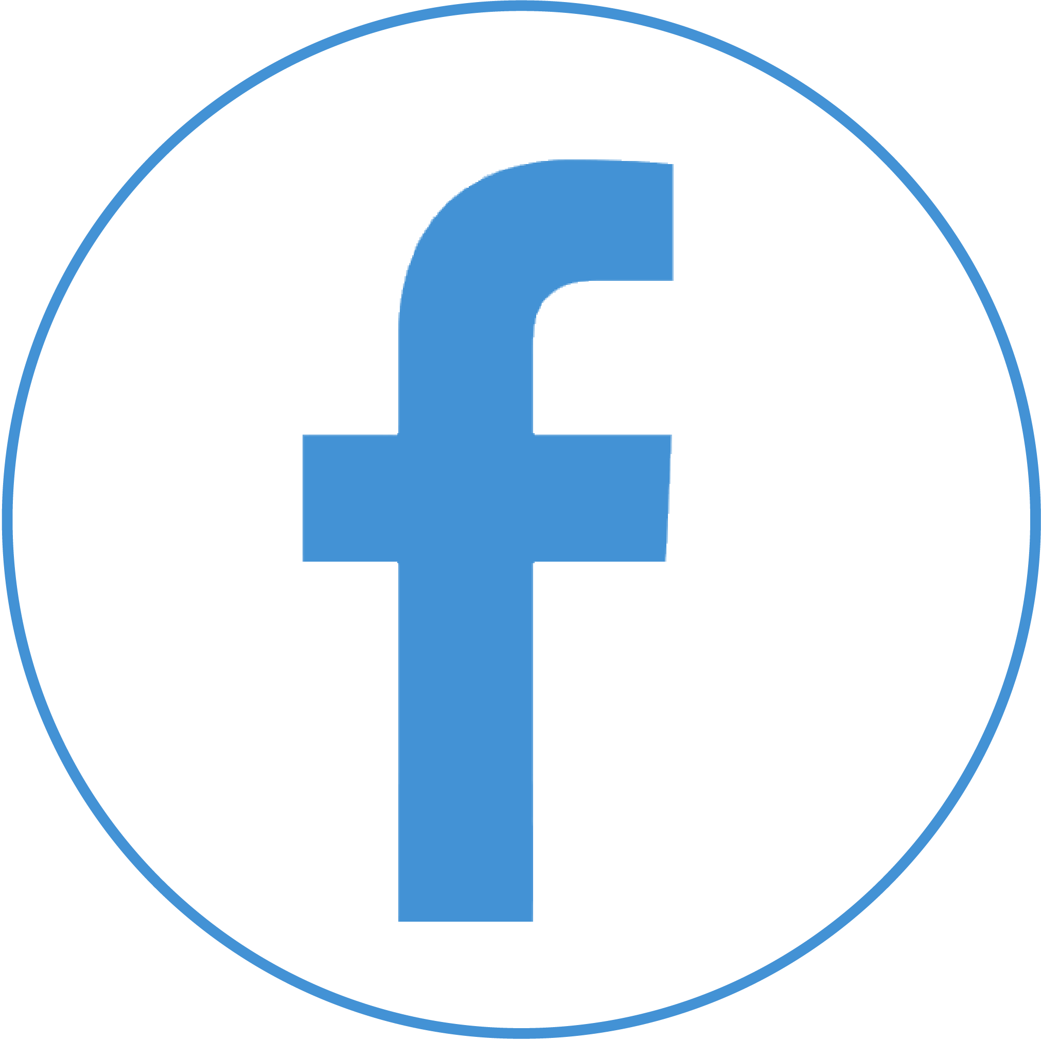 Round Blue Facebook Logo PNG Free Download #32257