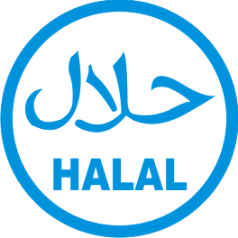 vector logo halal blue outline #7480
