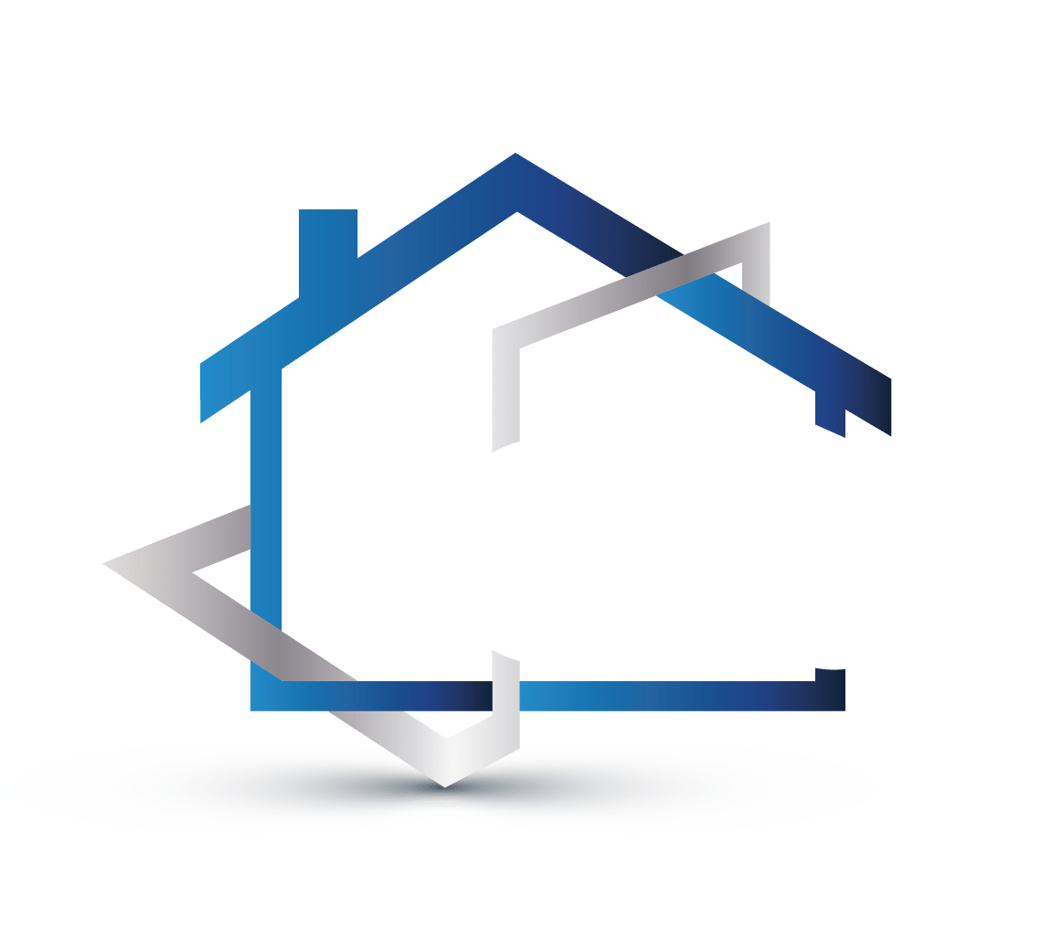 home blue logo house png