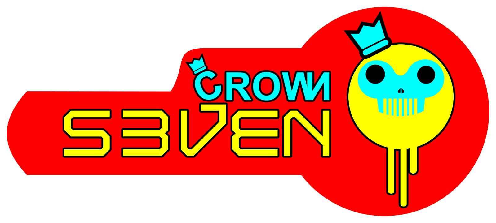 kaos distro keren logo seven crown distro 7588
