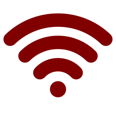 red wifi png transparent image and clipart #13687