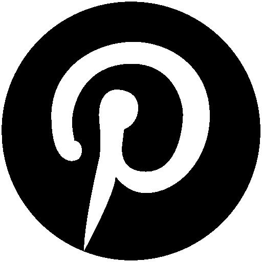logos pinterest icon black png #2009