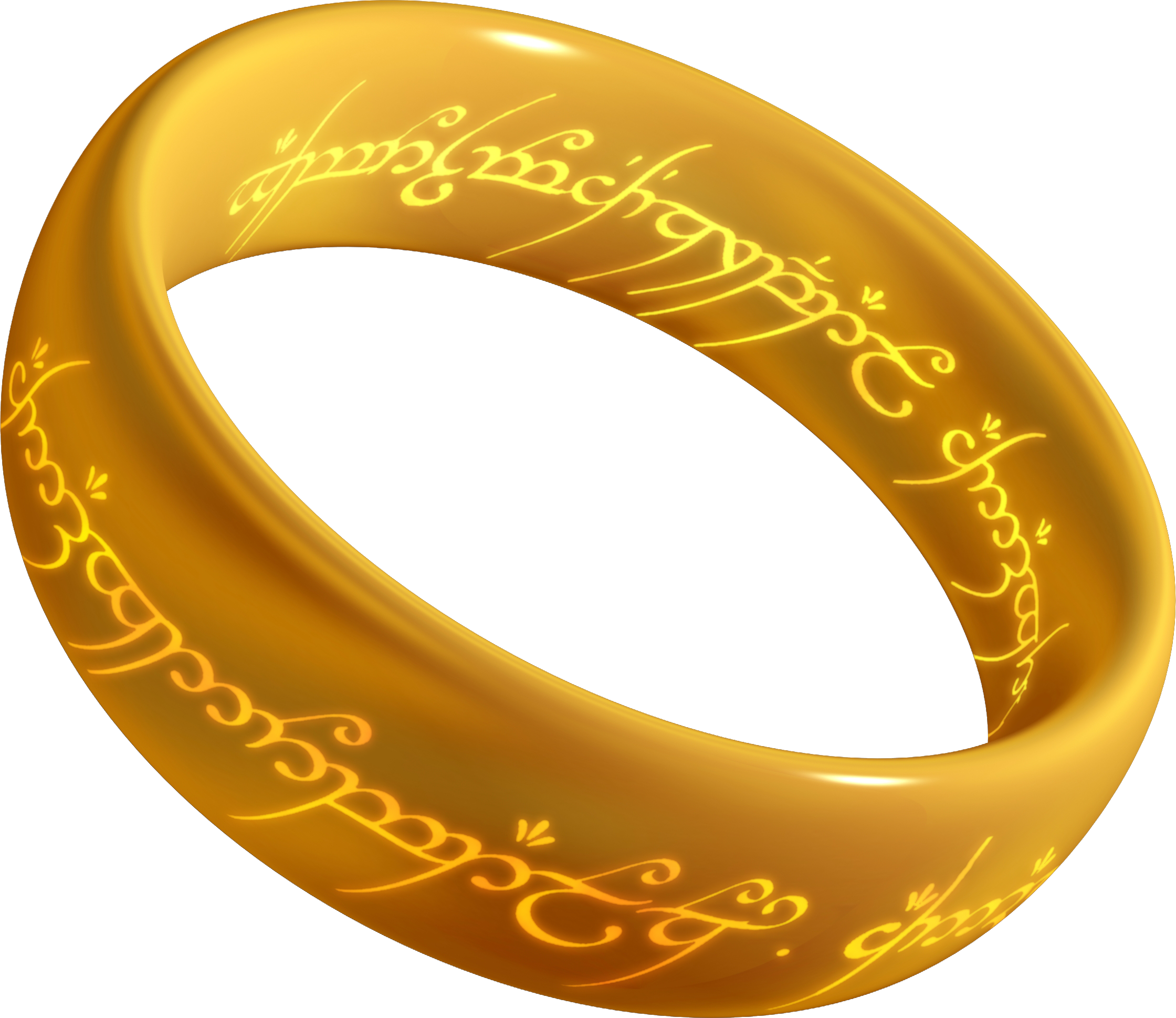 gold lord of the rings png logo #6404