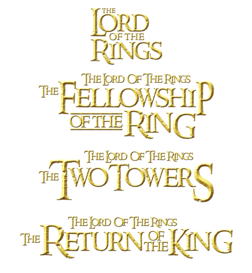 title the lord of the rings 2 png logo #6405