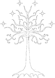 white tree and lord of the rings png logo #6401