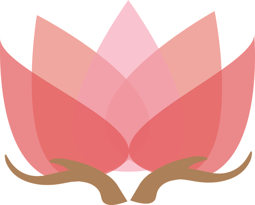 vector graphic lotus with hands lotus design #26604