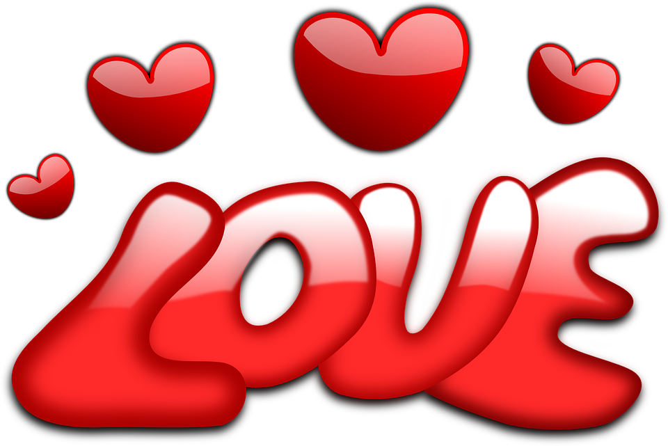love hearts valentine vector graphic #9992