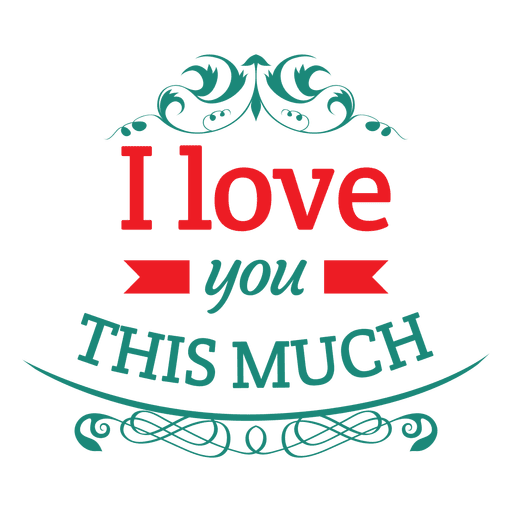 love you label transparent png svg vector #25795