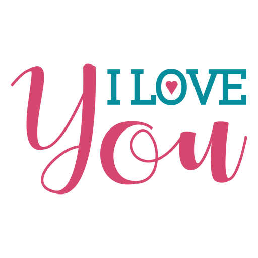 love you lettering transparent png svg vector #25740