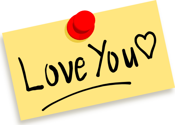 thumbtack note love you clip art clkerm vector #25811