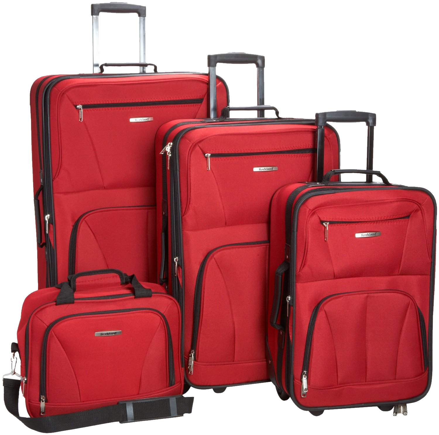 red luggage four suitcase png image purepng transparent #35058