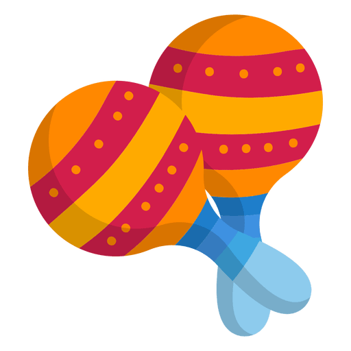 colorful maracas flat icon transparent png svg vector #34316