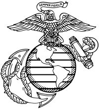 eagle, globe, and anchor, marine corps png logo #5286