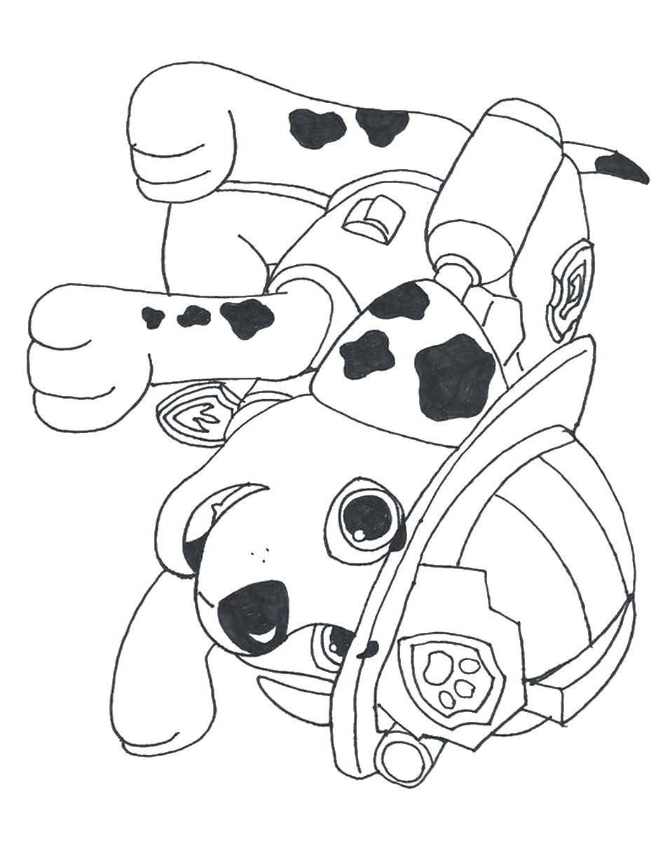 marshall paw patrol coloring pages photo #2625