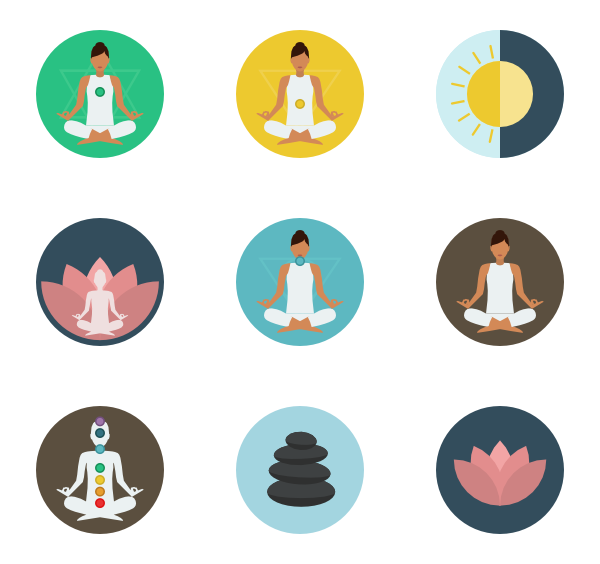 meditation icons vector icons #8959
