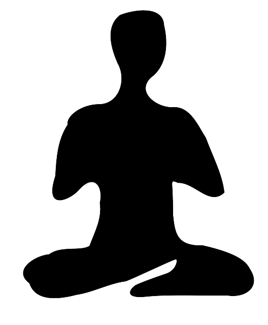 meditation meditate yoga vector graphic #8966
