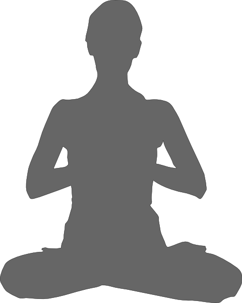 meditation women grey clipart vector #8968