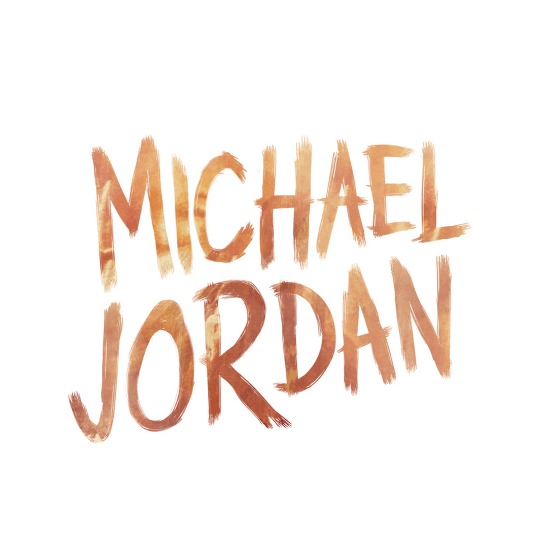 michael jordan text logo 2676