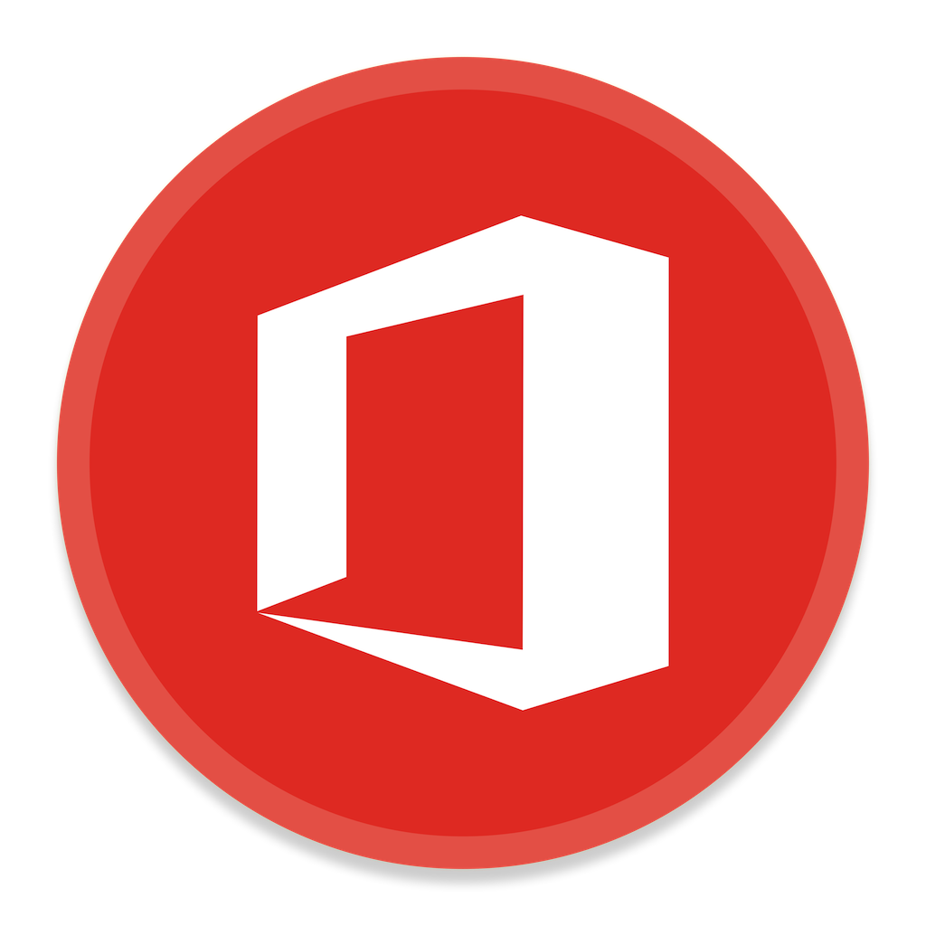 microsoft office button red png logo #4837