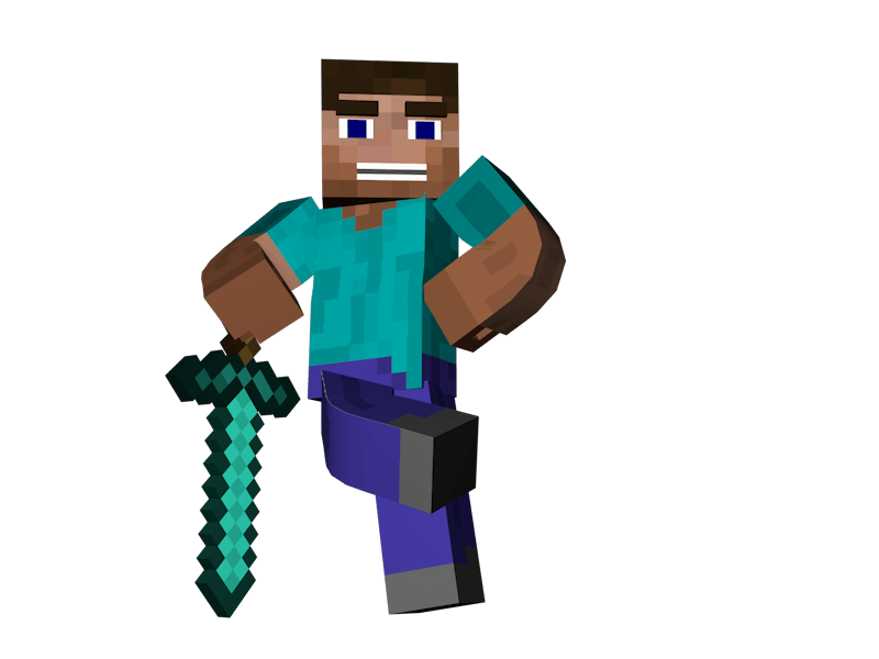 man standing sword minecraft transparent png stickpng 11536