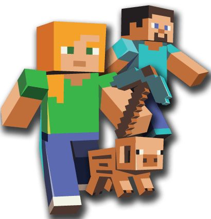 three characters minecraft transparent png stickpng #11452