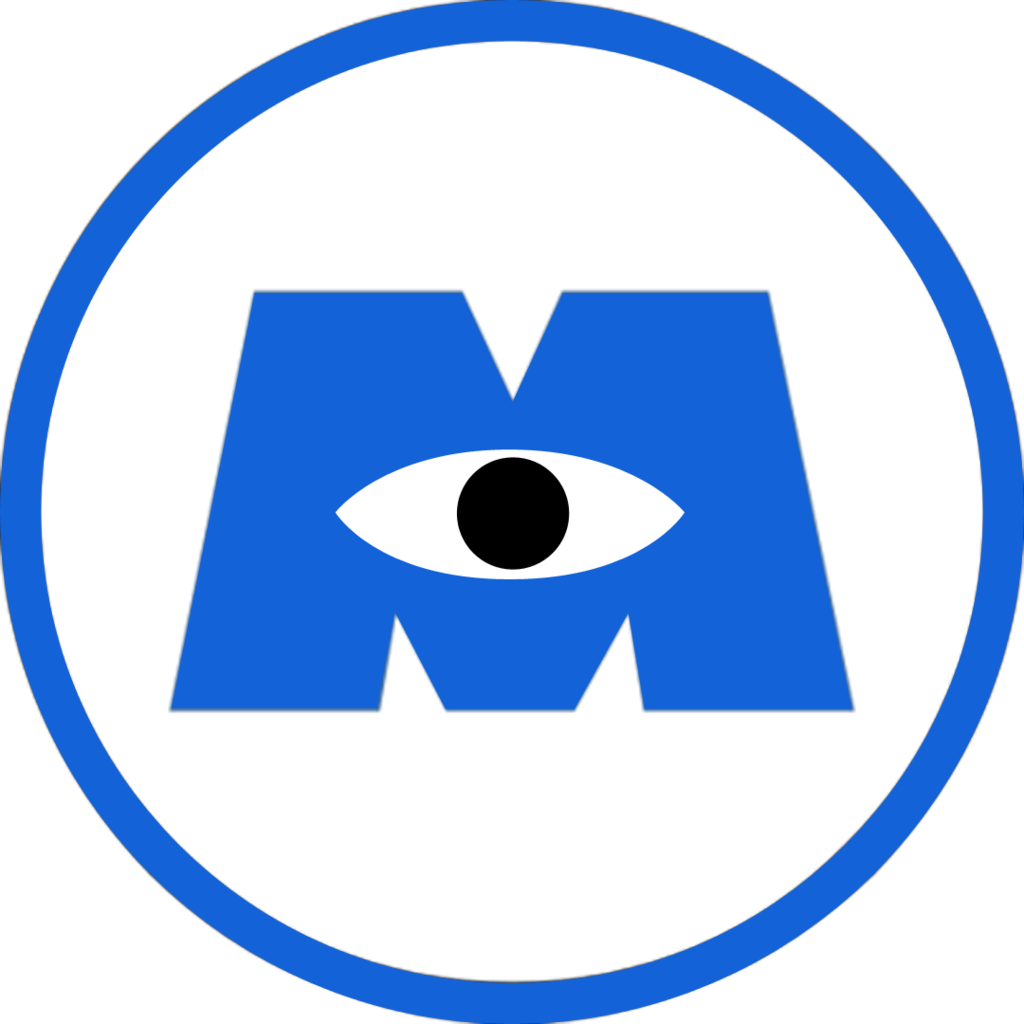 blue monsters inc png logo